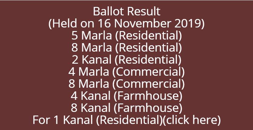 dha balloting results 2019