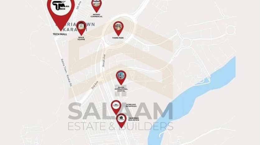 tech mall bahria town karachi map
