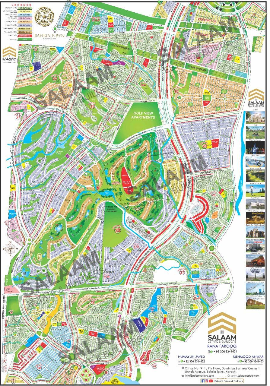Bahria town map